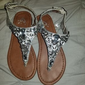 Girls size 13 jeweled sandals from Justice